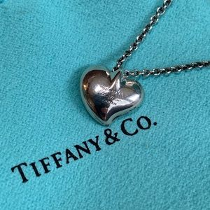 Vintage Tiffany & Co.  Puff Heart Necklace